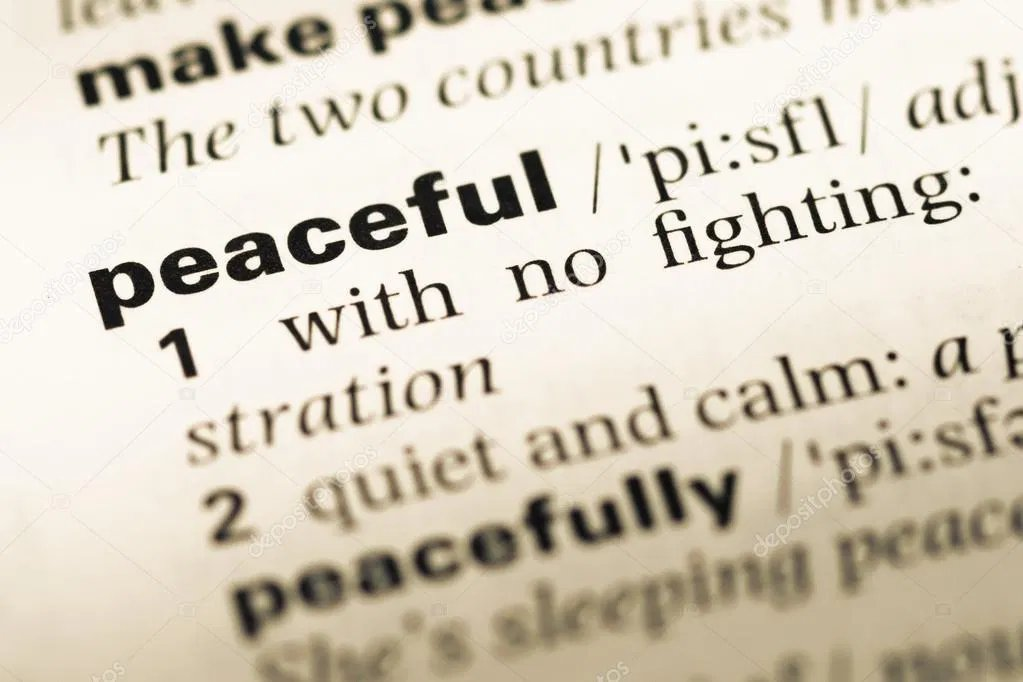 """In anticipation of the mainstream media """"reporting"""" on #Inauguration2021 , the Oxford Dictionary has updated the definition of 'peaceful' to include """"surrounded by thousands of troops.""""  In 2020 """"including the posibility of arson, violence, and theft"""" was added.  #tuesdayvibe"""