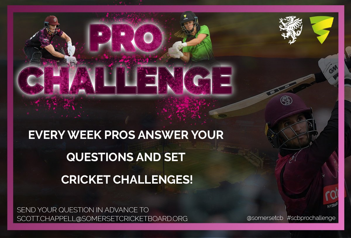 test Twitter Media - Our brand new weekly 'Pro Challenge' 🏏  kicks off with @SomersetCCC @tomabell1 👍 & @_WesternStorm @LuffSophie 👌  Email/tweet questions in with your name, age and school and/or cricket club & find out the answers & the challenges they have set you every Monday! #scbprochallenge https://t.co/MRmKBvL9T4