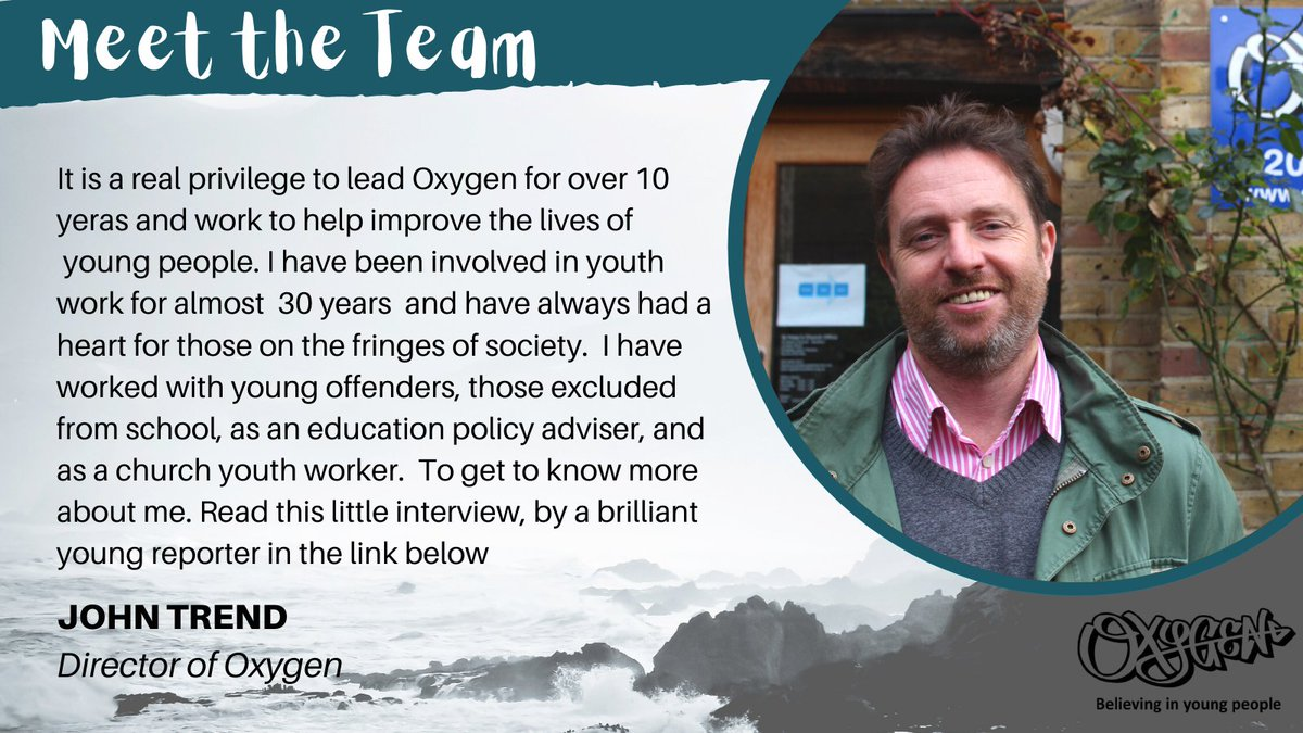 To start off our #meettheteam series, meet our Director John!  #youthwork #youngpeoplematter #kingstonuponthames #ngo #charity