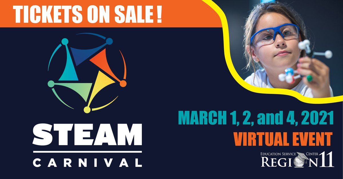 🎡 2021 Virtual STEAM Carnival tickets are now on sale! 🎡 Choose your classroom's date here: eventbrite.com/e/2021-virtual…
