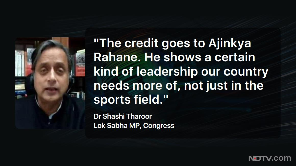 #LeftRightCentre | Congress Lok Sabha MP Dr @ShashiTharoor on #AjinkyaRahane  (via @ndtv)