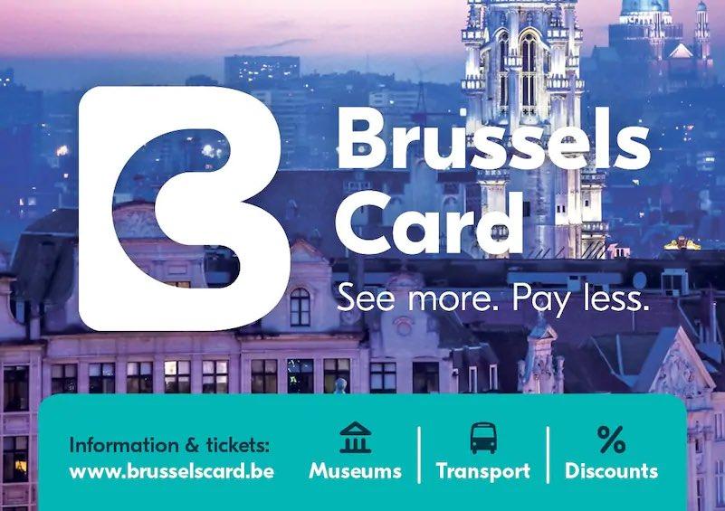23 / #بروكسل  بروكسل فيها العديد من المتاجر وهذه البطاقة تفيد حتى للأماكن السياحية البعيدة عن وسط البلد
