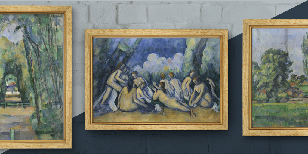 Cézanne was born #OnThisDay in 1839. His ambition throughout his career was to 'make of Impressionism something solid and durable like the art of museums'. Feel the harmony of his paintings at home by ordering a print via our online service.  Start here: https://t.co/A3AFTFUAYp https://t.co/ldZJDgBg2t