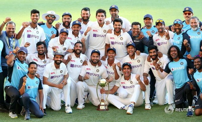 India celebrates Rahanes fearless men after incredible win in Australia Photo