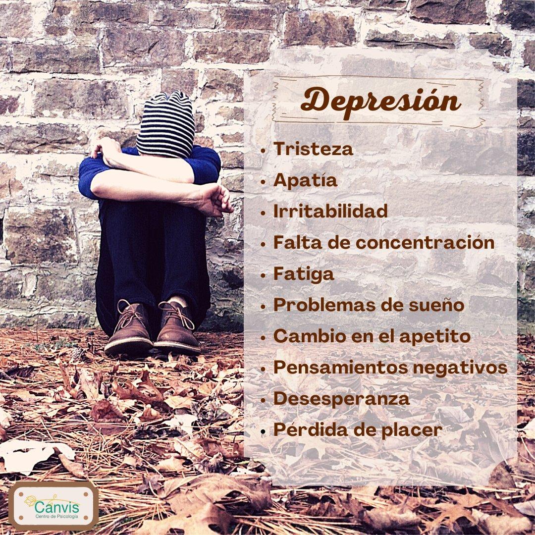 Desde #Canvis queremos recordar que el pasado 13 de Enero fue el Día Mundial de la lucha contra la #depresión.   Puede ser un trastorno mental grave si no se trata, los #síntomas que presenta 👇 interfieren de un modo elevado en la vida de las personas.  ¡Podemos ayudarte!📩😊 https://t.co/nRGP1MN33u