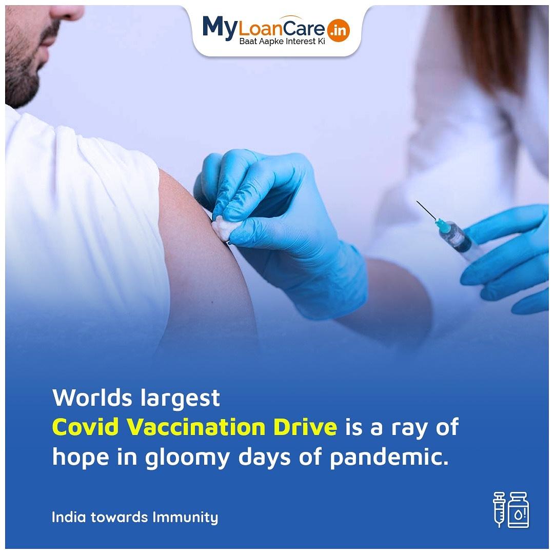 Stepping towards corona free India.  #myloancare #baatapkeinterestki #CoronaVaccineDrive #COVID19 #COVID #COVID19Vaccination #vaccination #VaccinationDrive #VaccineForIndia #vaccine #IndiaFightsCorona #tuesdaymotivations #tuesdayvibe