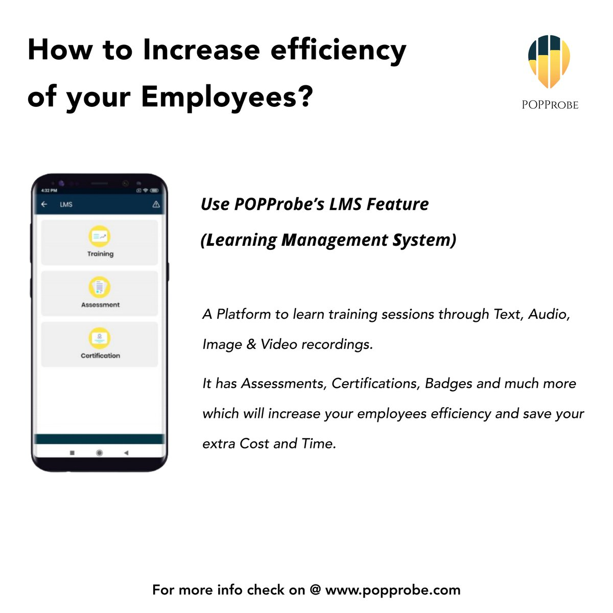 How to increase efficiency of your #employees ?  More info @   #employment #EmployeeExperience #RetailTech #Software #Sales #tuesdaymotivations #popprobe #LearningNeverStops #COVID19 #lockdown #app
