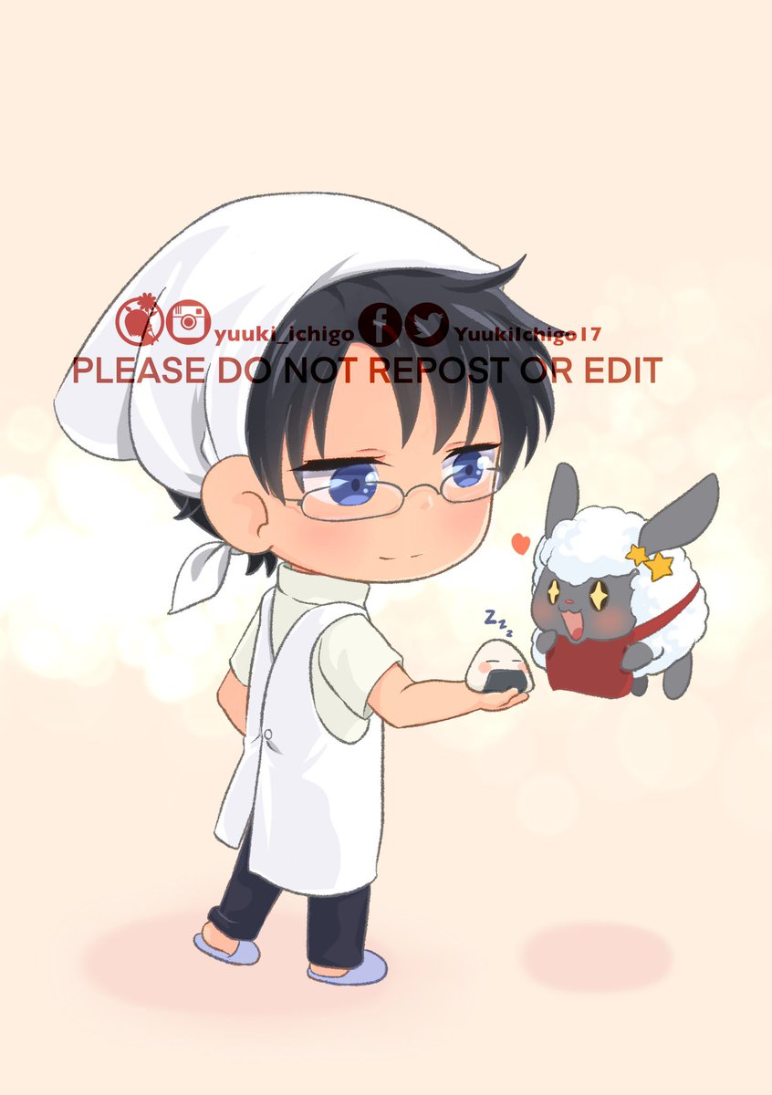 Watanuki make a special riceball for Sheepyriceball the chef .  Thank you very much for let me drawing your cute little idea and your cute OC 🥰. I hope you will like this!   🚫 Please do not repost    #chibi #fanart #onigiri  #watanukikimihiro #xxxholic #drawing #yuuki_ichigo.