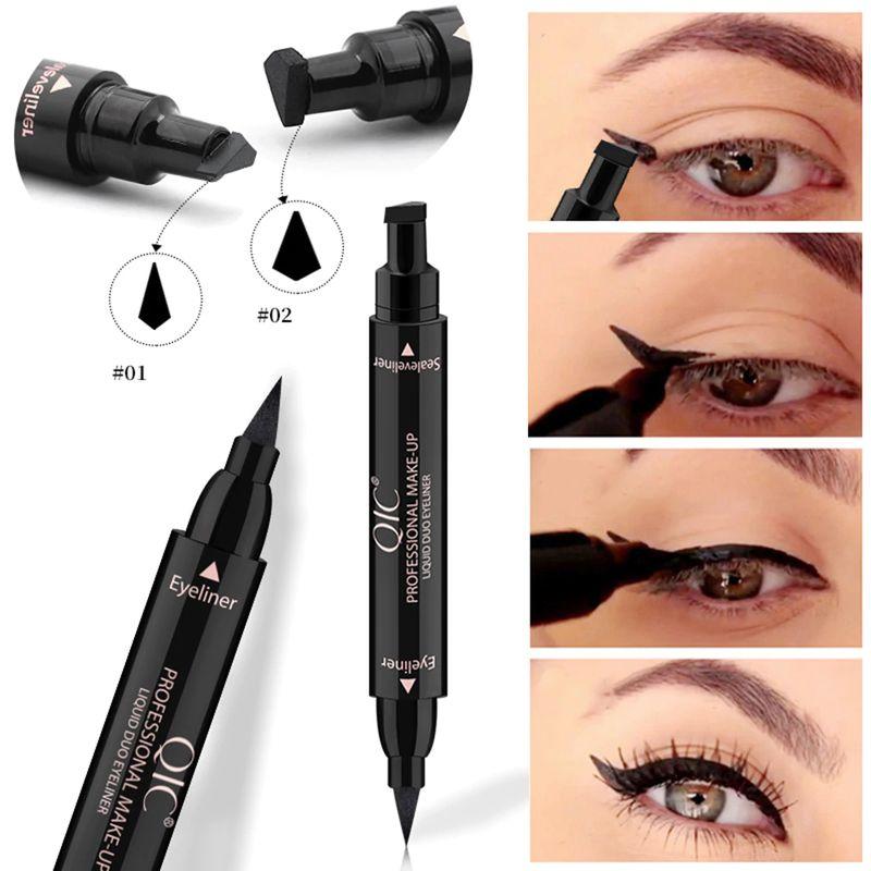 1PC Double-Headed Seal Black Eyeliner Triangle Seal Eyeliner Stamp. Shop now / Compra:👉🛒 #Double-Headed #Eyeliner  #beauty