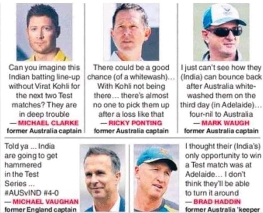 Rotten eggs i was talking about...Could you guys please put a sock to it...#michaelclarke #RickyPonting #MarkWaugh #MichaelVaughan #BradHaddin #INDvsAUS