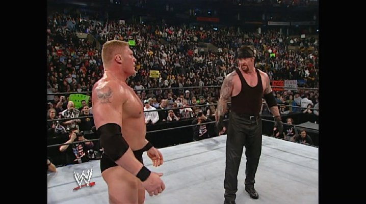 #OnThisDay in 2003, Brock Lesnar would Eliminate The Undertaker to win the Royal Rumble match and earn the opportunity to face Kurt Angle at Wrestlemania 19.  What an opening 12 months Brock was having at this point and he wasn't finished yet  @BROCKLESNAR @RealKurtAngle https://t.co/vS0qFEUPDe