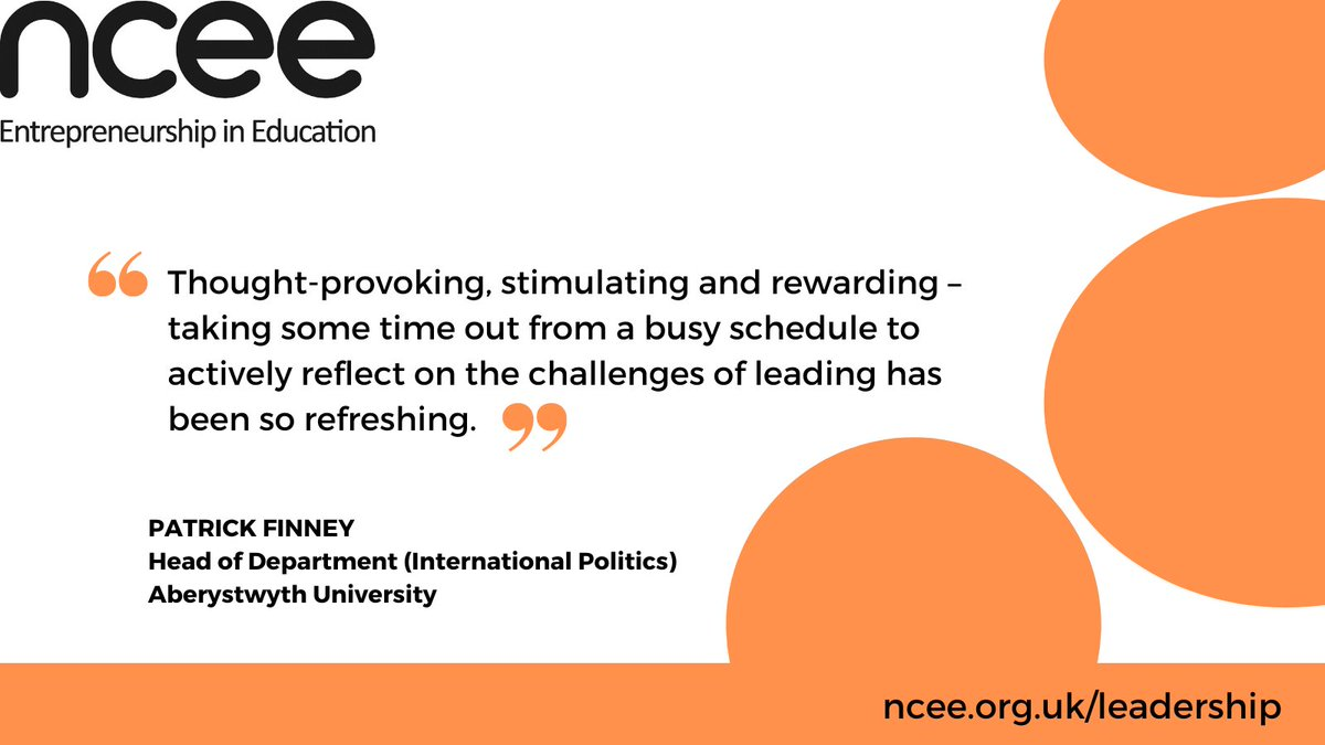 Our online Entrepreneurial Heads programme is back in March. Previous participant @patrickfinney1 from @AberUni provides his feedback on the programme. #leadershipdevelopment #highereducation #tuesdaythoughts