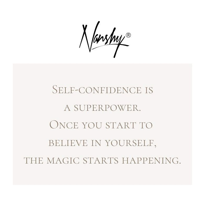 Self-confidence is a superpower. Once you start to believe in yourself, the magic starts happening. • • • #selfcare #selfconfidence #confidencequotes #makeupartist #girlpower #quotestagram #lookafteryourself #makeuplover