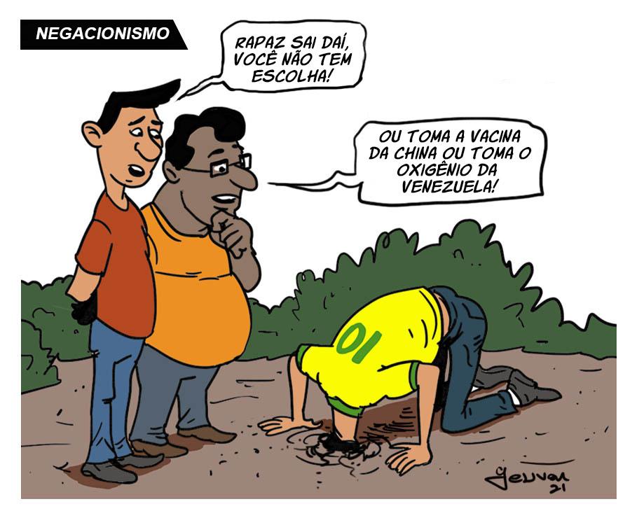 Manaus com oxigênio  #politica #Bozo #militares #pandemia #covid19 #sabotagem #Brasil #mortes #diabo #charge     Apoie o trabalho do cartunista Tocantinense *Geuvar Oliveira* (clique no link):