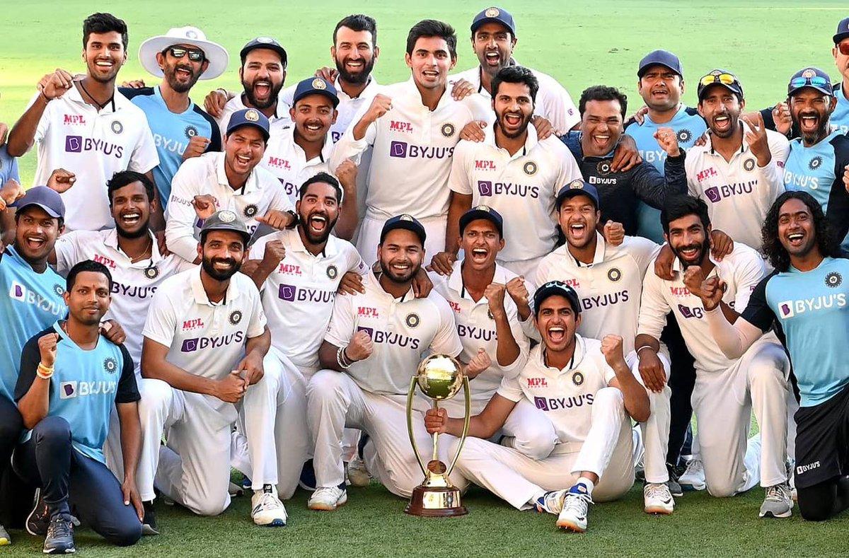 #भारतीय_क्रिकेट_टीम की आस्ट्रेलिया पर शानदार व ऐतिहासिक जीत पर हार्दिक बधाई!!  यह जीत संघर्ष से सफलता का एक बेहतरीन उदाहरण है जो लंबे समय तक याद की जाएगी।   #INDvsAUS