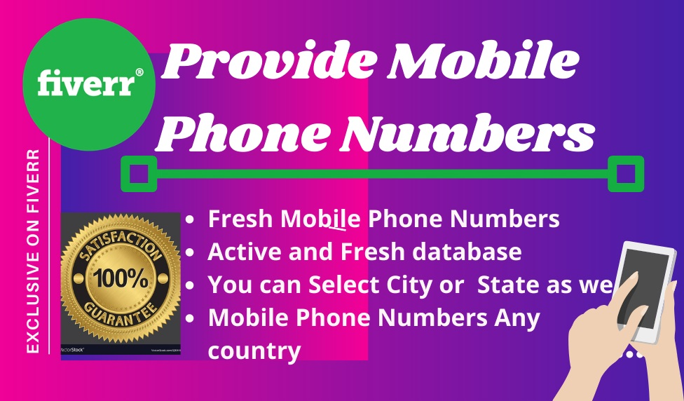 I will provide mobile phone numbers for text message marketing Click This Link:   #textmessagemarketing #mobilephonenumbers #digitalmarketing #textmarketing #onlinemarketing  #tuesdayvibe #WaleGoodVibes #tuesdaymotivations  #INDvsAUS #TuesdayThoughts