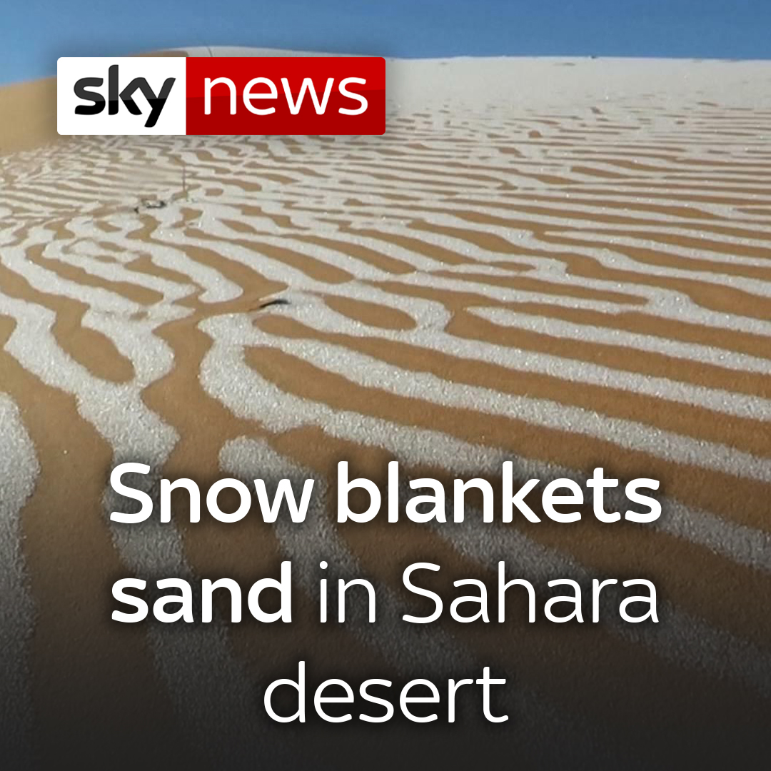 The Algerian town of Ain Sefra has experienced snow for the fourth time in 42 years as temperatures fell below -3 C.  Read today's top stories here: