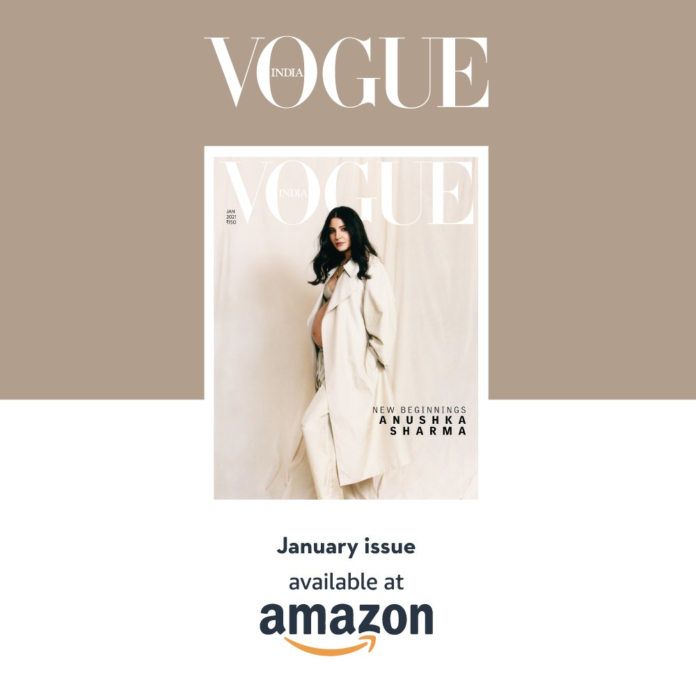 Vogue India's January issue, now available on Amazon, celebrates motherhood in all its glory with cover girl Anushka Sharma as she navigates pregnancy in this pandemic. Click on the link to get the issue.