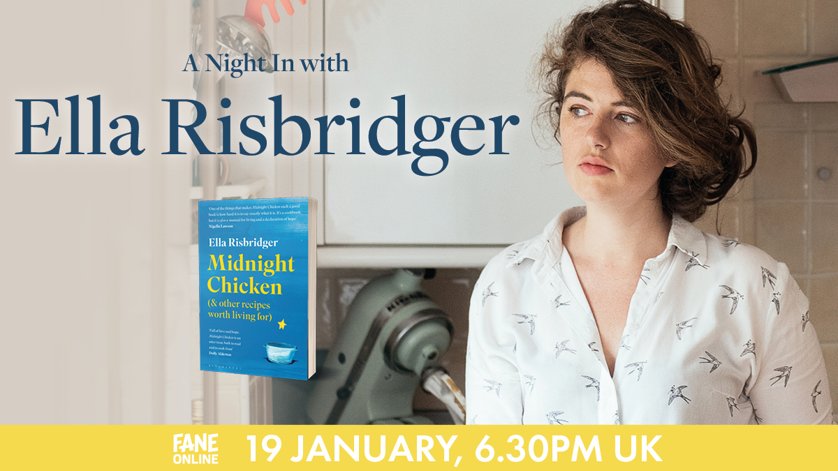 We have the recipe for your PERFECT night in: you, your laptop and @EllaRisbridger 💙 Enjoy personal stories and some of the food writer's favourite recipes tonight from 6.30pm: