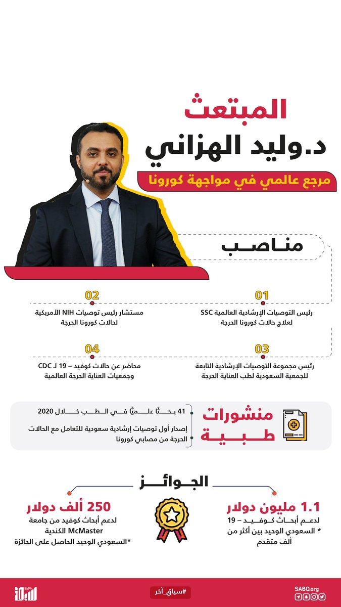 قائمة من الإنجازات العالمية الملهمة للدكتور وليد الهزاني المبتعث السعودي في جامعة McMaster الكندية حققها في 2020 فقط.  #سياق_آخر