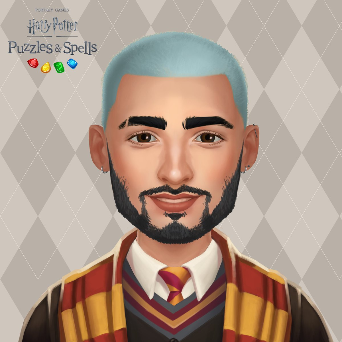 I ended up dying my hair for the 7 batrillionth time and so did my avatar. My avatar customisations are now live for all players in @HPPuzzlesSpells. Check 'em out here:  and share your new avatar below. #Sponsored