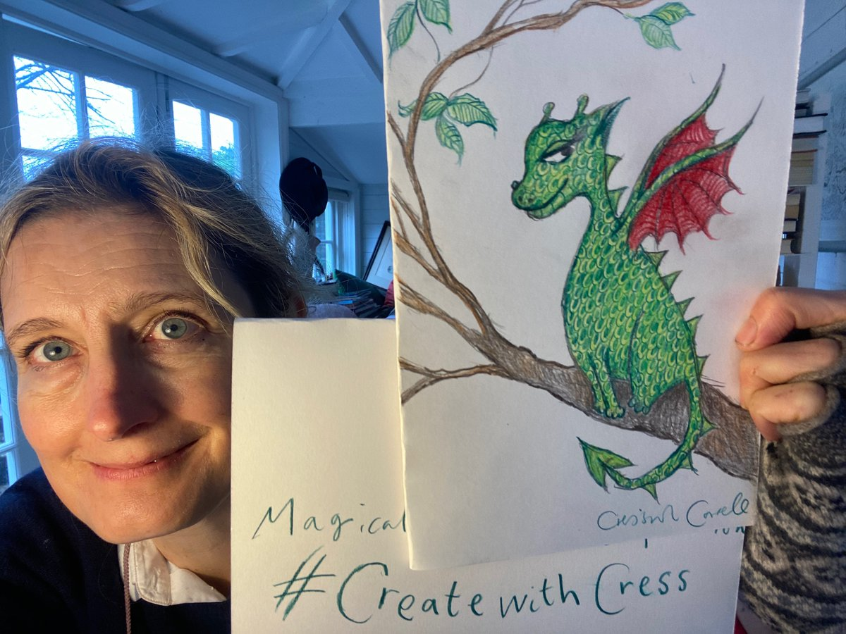 Calling all magic-makers! Draw your own Magical Treehouse, and you could win THIS signed drawing of Toothless up a tree.Full details on my youtube channel here: Ask your adult to share your drawing on Facebook, instagram or Twitter with the #CreatewithCress