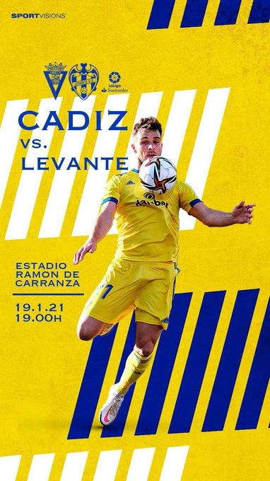 Trabajo, ilusión y mentalidad positiva para hoy. ¡Vamos Cádiz! 💛💙#LaLiga
