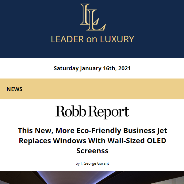The latest from your Leader on Luxury is now available. Full newsletter at https://t.co/4Yx9WvKuGz    Read the latest news, learn about upcoming events and our featured #aircraftforsale #yachtforsale listings! #bizav #leaderluxury #luxurytravel #luxurylifestyle #privatejet