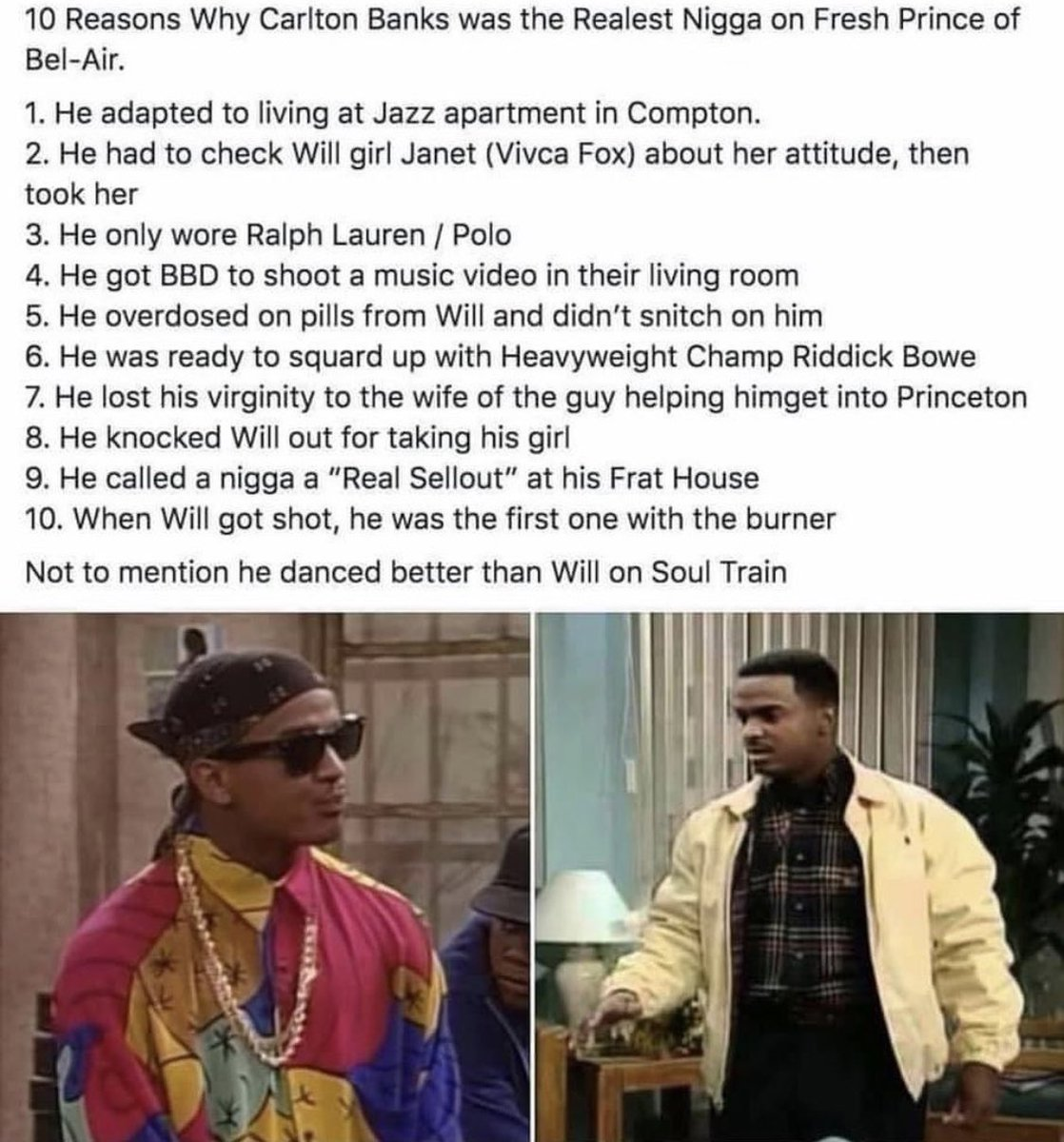 Tell me where the lie is? 😂 #FreshPrince #CarltonBanks #WillSmith