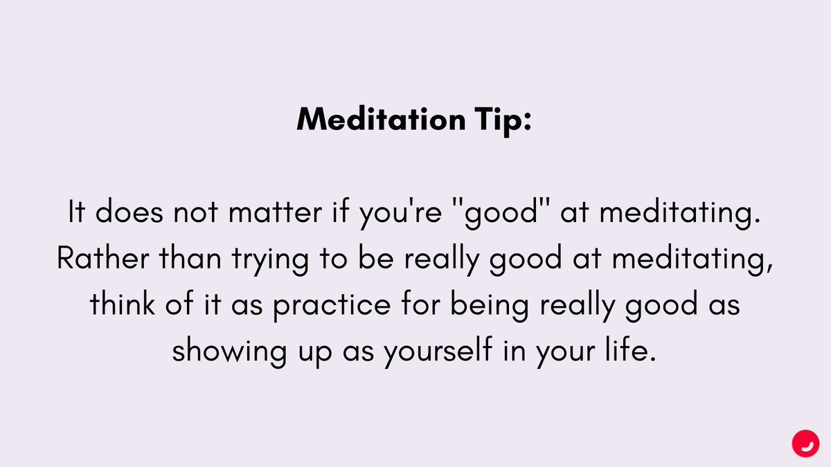 What if the goal of meditation wasn't to be good at it? 🧐  #TuesdayTips