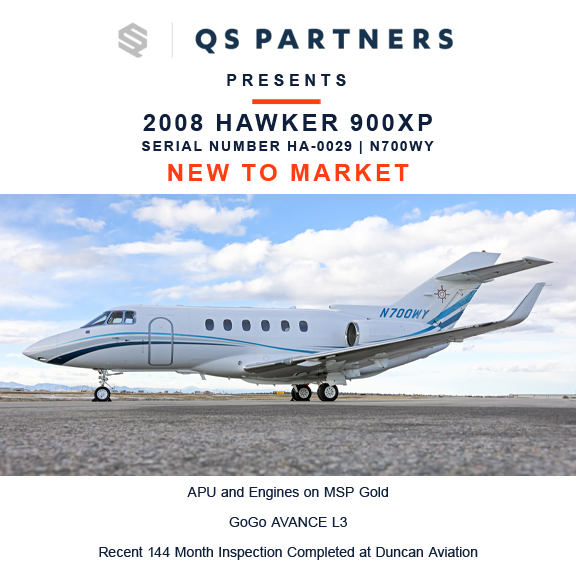New to market - 2008 #Hawker #900XP at @QSPartners  APU and engines on MSP Gold Recent 144 month inspection completed at Duncan Aviation More details at: https://t.co/Cg9LzUW9SK  #bizjet #bizav #aircraftforsale #privatejet #privateflying #jetforsale #businessaviation