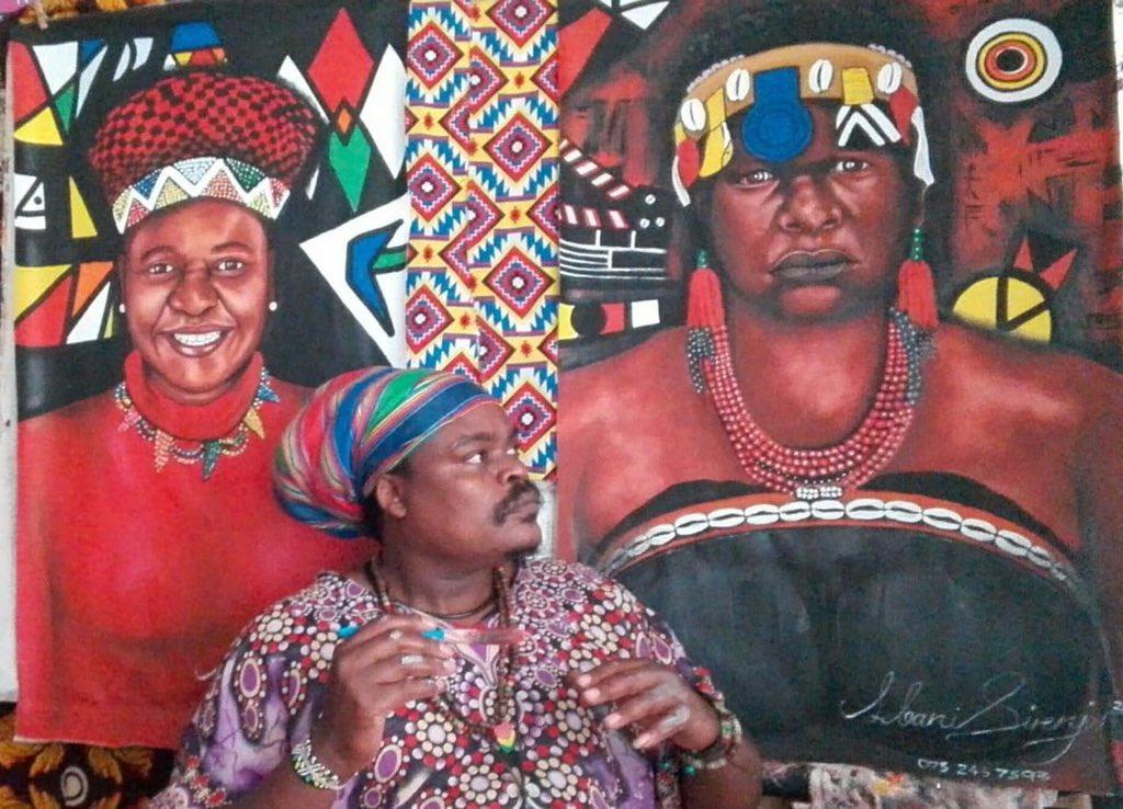 Rastas portrait of the late Lindiwe Ndlovu.