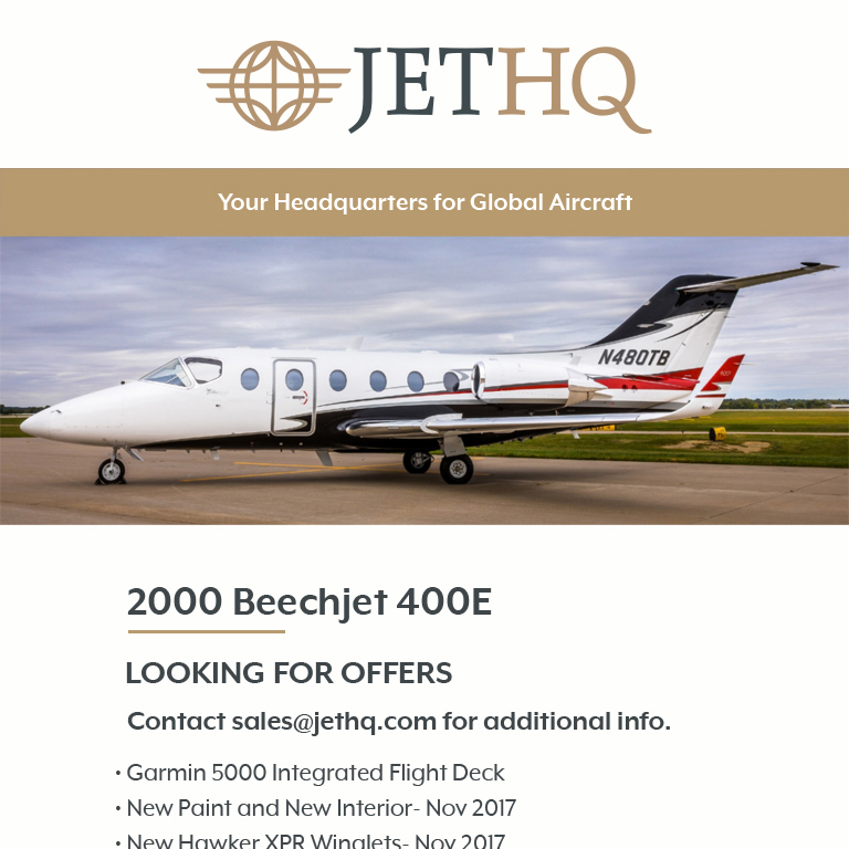 2000 #Beechjet #400E looking for offers at @JetHQAv     New paint and new interior Fresh hot sections - Jan 2020 More details at: https://t.co/UtngGCJHDI  #bizjet #bizav #aircraftforsale #privatejet #privateflying #jetforsale #businessaviation