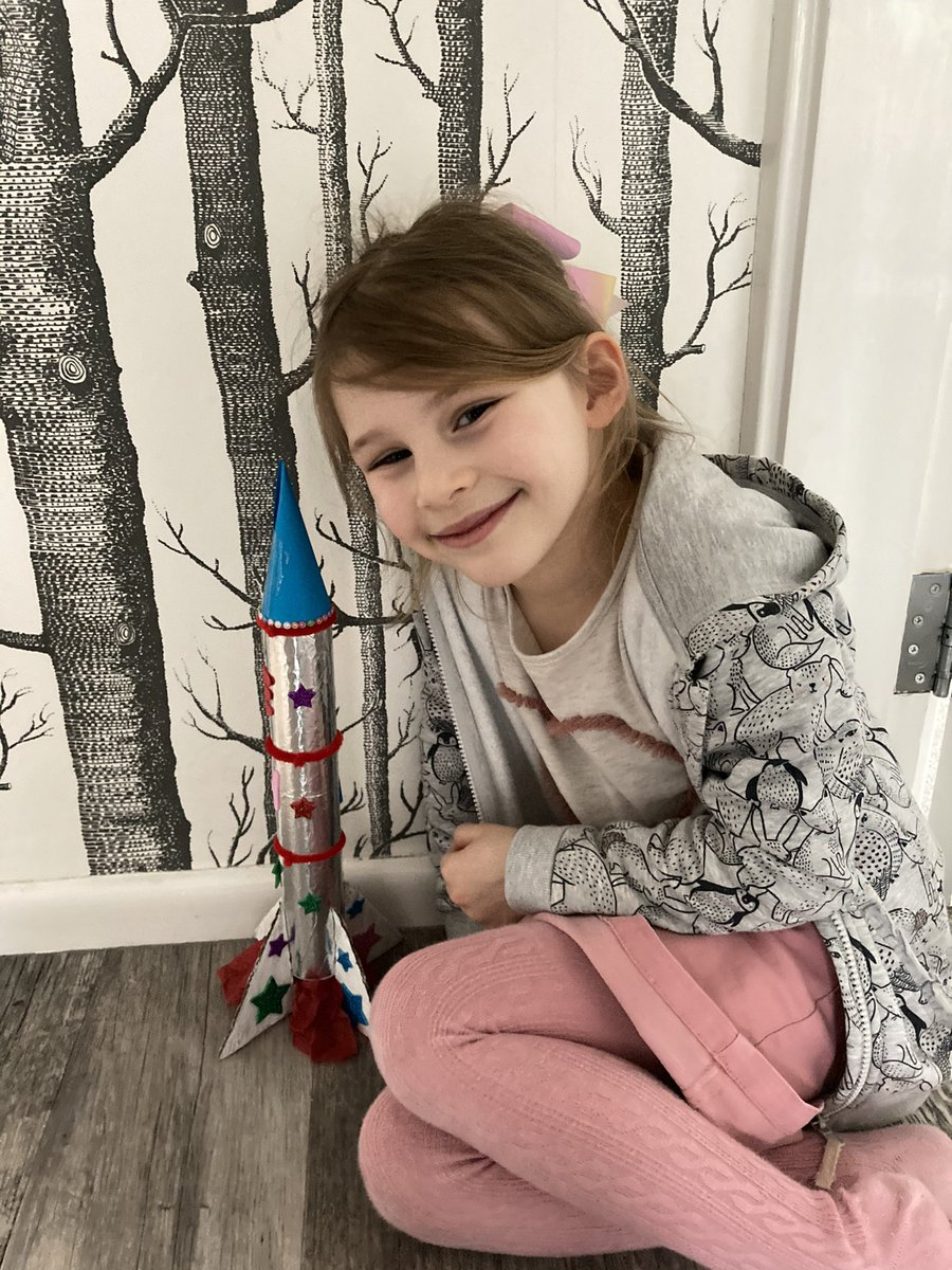 Move over @elonmusk . Isn't this the most amazing rocket made by my granddaughter ? 🚀 #girlpower