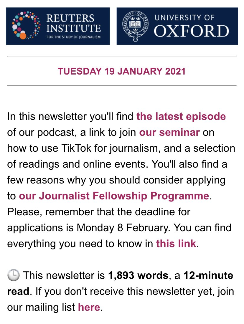 📬 You've got email!   Our weekly newsletter is out, featuring @nixxin @sophiasgaler @lionelbarber @cgicheru1 @MeeraSelva1 @rasmus_kleis @emilybell @TaylorLorenz @FraZaffarano and others   Read here