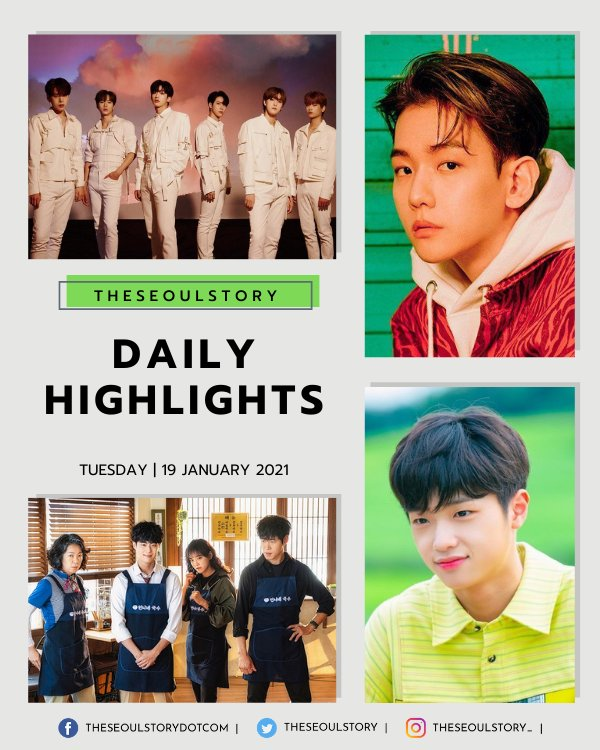 [#TSSDailyHighlights] How's your Tuesday? 🤗 End the day's hussle with a dose of K-entertainment updates from today's highlights ✨ 🌟 Dong Pyo In New Boy Group 🌟 Baekhyun & WEi Comebacks 🌟 The Uncanny Counter Variety Episode Give us an IG follow 👉 instagr.am/theseoulstory_