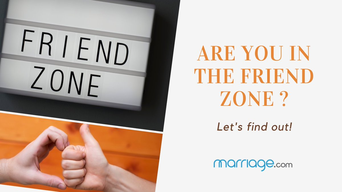 Being 'friend-zoned' can be frustrating, especially when you didn't see it coming. Get yourself a reality check by taking this eye-opening quiz.   Evaluate now:   #marriagedotcom #friendzoned #friendzonequiz #monday #friends #relationshipquiz #lovequiz
