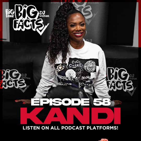 Start your day off listening to a new episode of @BIGFACTSPOD featuring @Kandi ‼️👉🏾