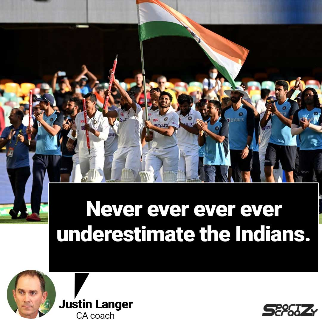 Australia coach, said the home team learnt to never underestimate India after the visitors made a resounding comeback from the 36 all out in Adelaide to win the series 2-1.   #AUSvIND #Cricket #JustinLanger #coach #BorderGavaskarTrophy #testcricket #WTC #sportzcraazy @CricketAus