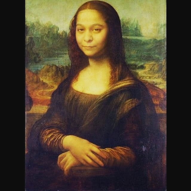 """With all due respect Monalisa is over-rated."", said Paulo Coelho. Presenting you Sriyalisa. 😝 Naming Credits: Akshitha Bojagari (my sister) 😜 . . . #monalisa #leonardodavinci #paulocoelho #NewProfilePic"
