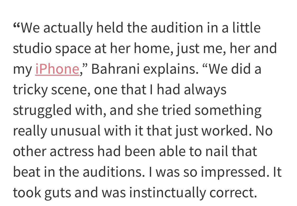 """We did a tricky scene, one that I had always struggled with and @priyankachopra tried something really unusual with it that just worked. No other actress had been able to nail that beat in the auditions. I was so impressed.""—Director, Ramin Bahrani #TheWhiteTiger"