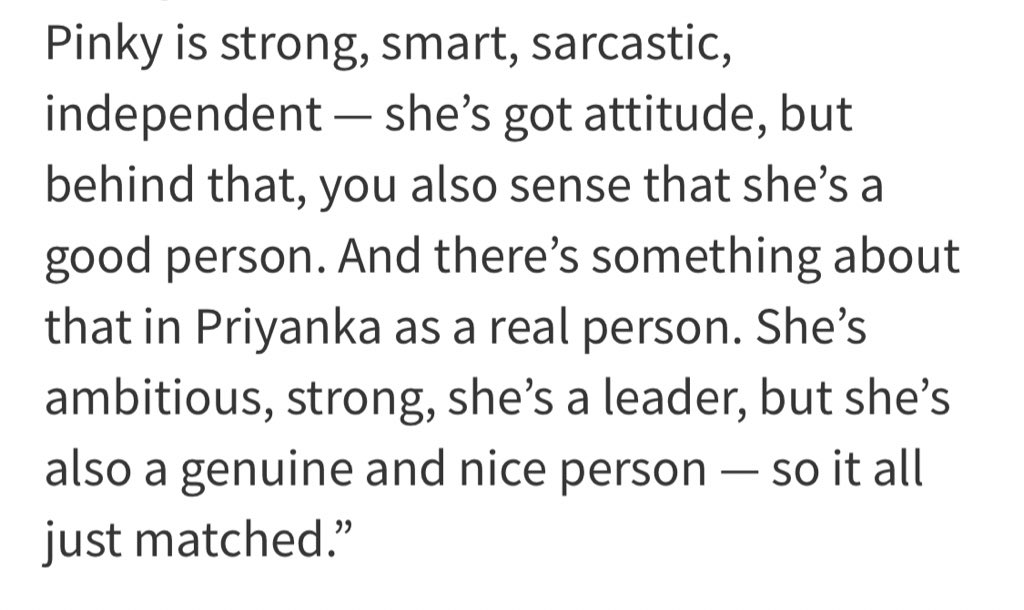 """And there's something about  that in Priyanka as a real person. She's ambitious, strong, she's a leader, but she's also a genuine and nice person, so it all just matched.""— Ramin Bahrani. #TheWhiteTiger @priyankachopra #TheWhiteTigerNetflix"