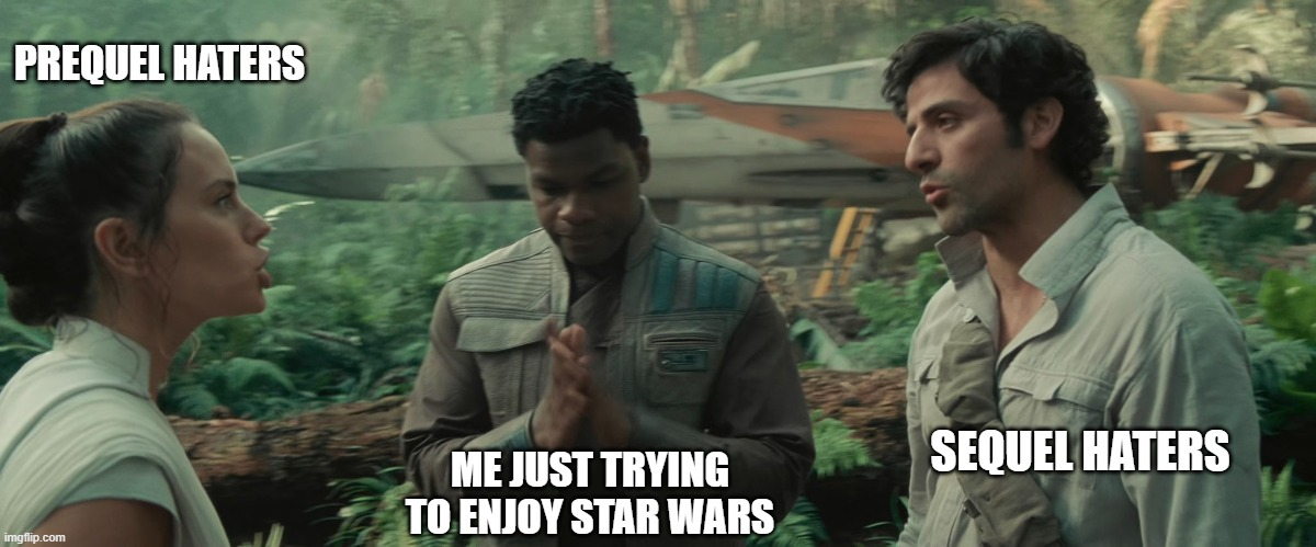 Replying to @Kello_Ren: How it feels on Star Wars Twitter some days.   (Most days, if not all days)