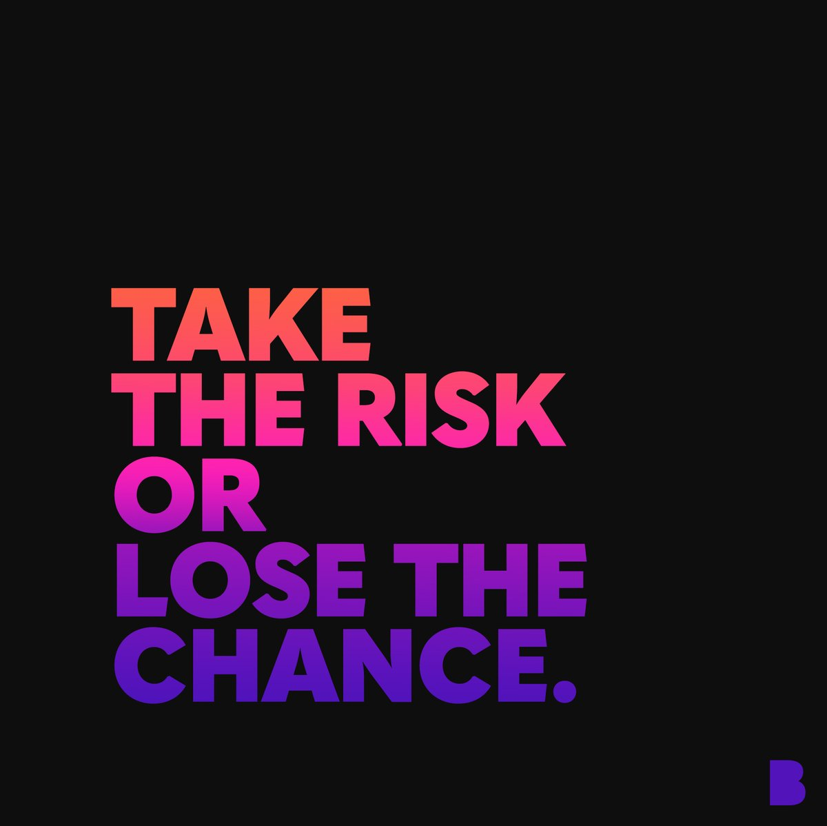 Don't miss your opportunity.  #BoldLikeUs #BLUProducts #BLUSmartphones #BeBold #Unlocked #BLUForYou #MadeInMiami #FromMiamiWithLove #MakeBOLDMoves #TakeTheRisk #TakeChances #DontMissYourOpportunity #TuesdayThoughts #FoodForThought