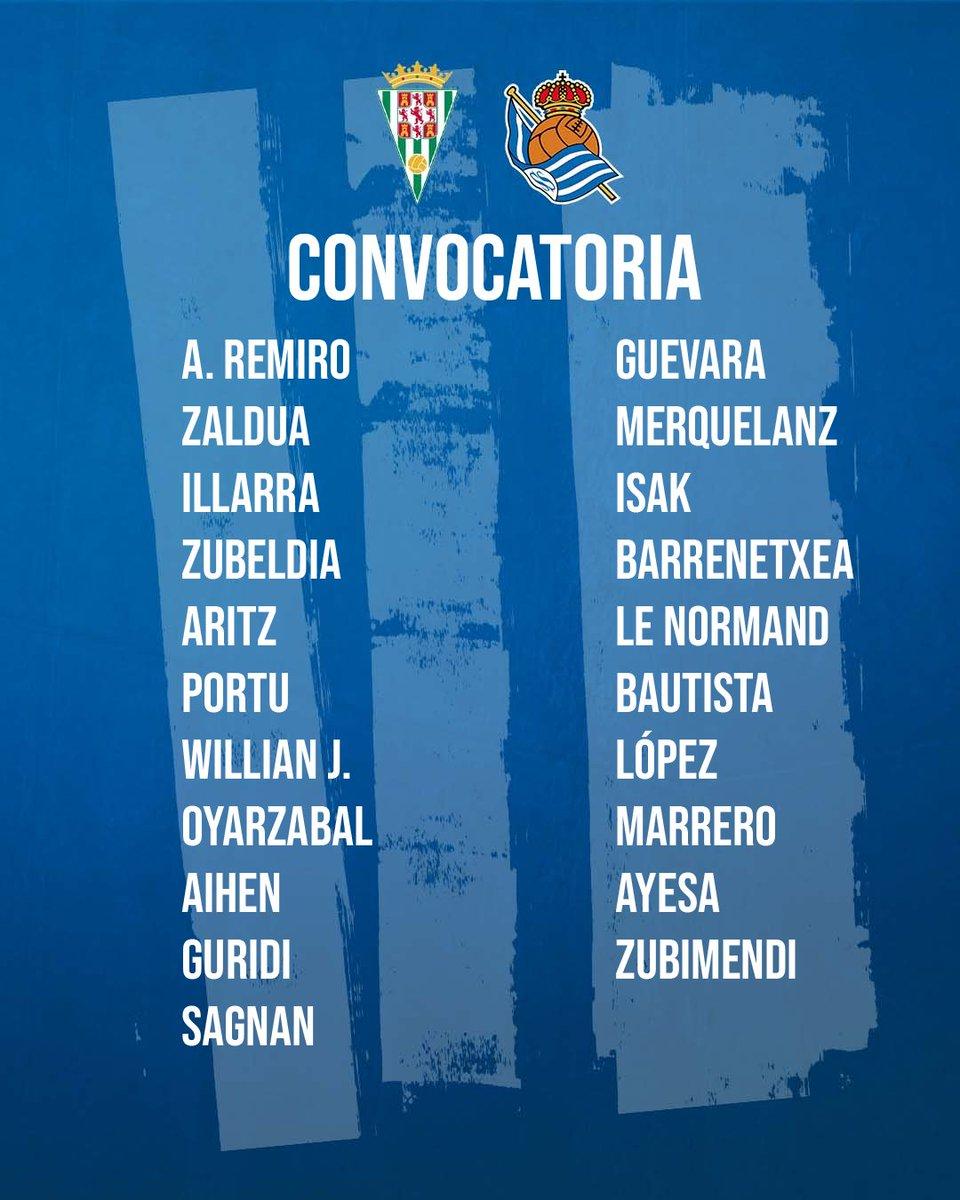 📋 La convocatoria para el partido de mañana. AUPA REAL!!!  #CopaRS #AurreraReala