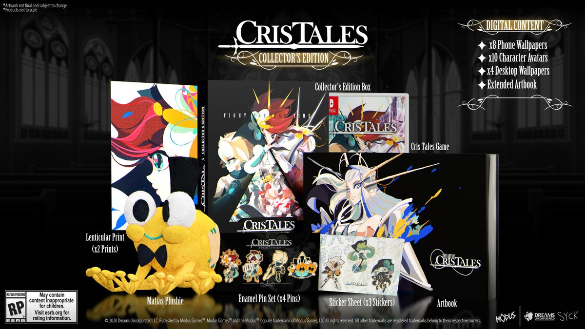 Get your hands on the new limited-run Cris Tales Collector's Edition, exclusively on the new Maximum Games Store! It includes:  Collector's Box Matias Plush Lithographic art prints Stickers Enamel Pins 60-page art book Bonus digital content  Pre-order now: