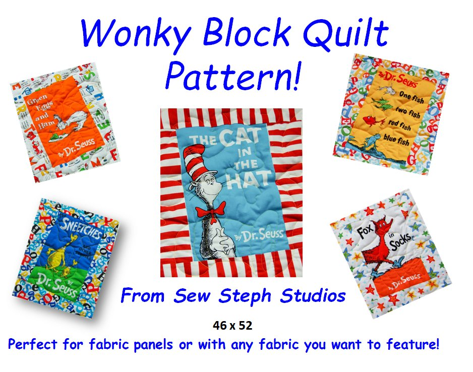 Do you have a #Fabric #panel you don't know what do with?  check out this #Wonky #Block #Quilt #Pattern Step by Step instructions - super #EASY!