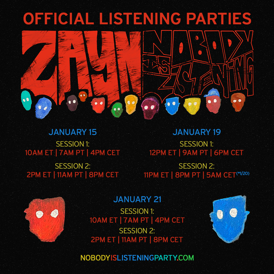 Tune in to today's listening parties & gain access to an exclusive merch item only available for 24 hours⏰
