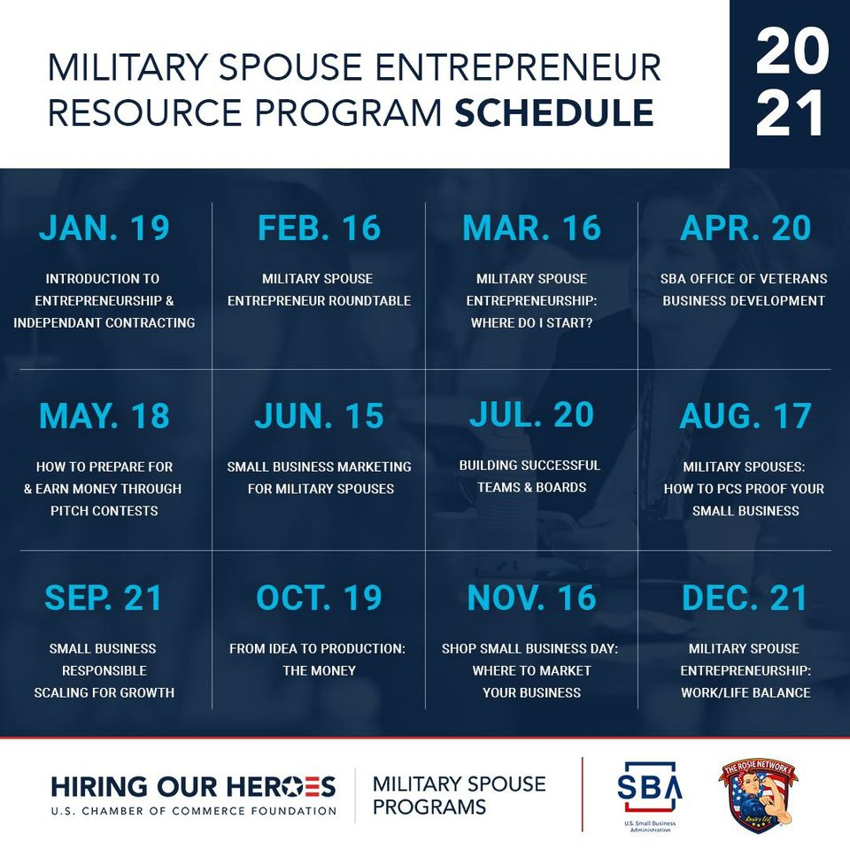 Join us later TODAY as we kick off this exciting offering  with @hiringourheroes  at 4 PM EST, Our Heroes: Military Spouse Entrepreneur Resource Program: Intro to Entrepreneurship & Independent Contracting .  ... Passcode: 324037  #militaryentrepreneur