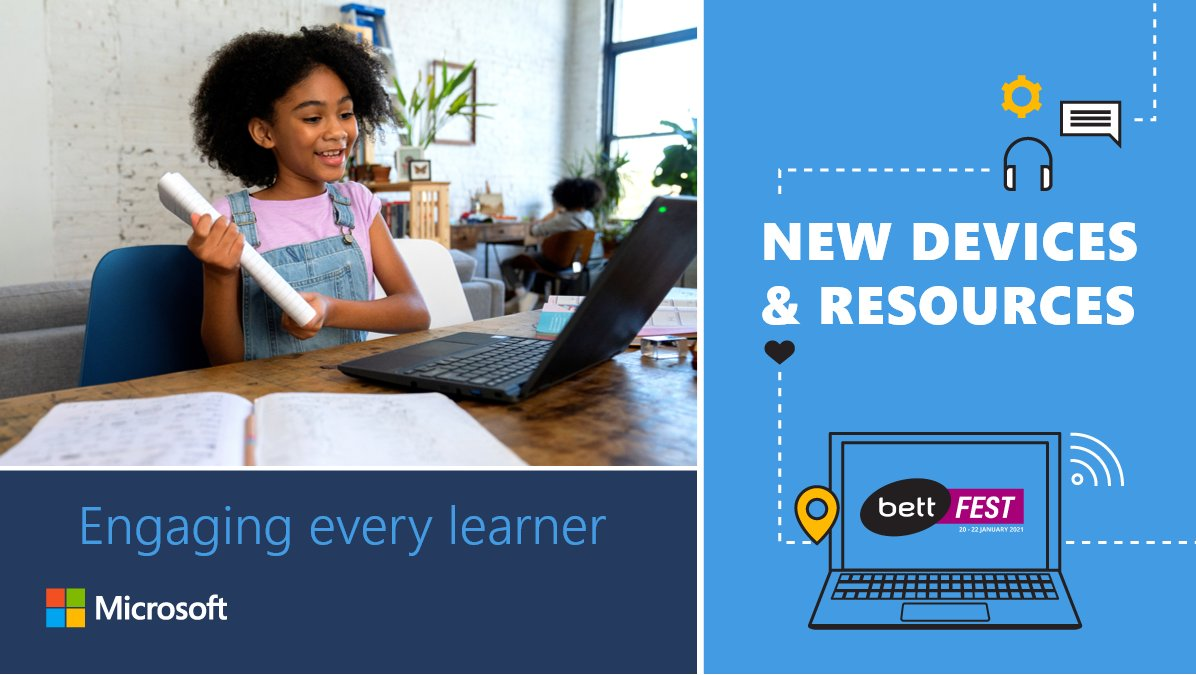 We're kicking off this year's #BettFest with some exciting news. 💫    Learn all about the expanded Windows 10 lineup and product updates to support collaborative learning experiences anytime, anywhere.   ✨  ✨ #MicrosoftEDU